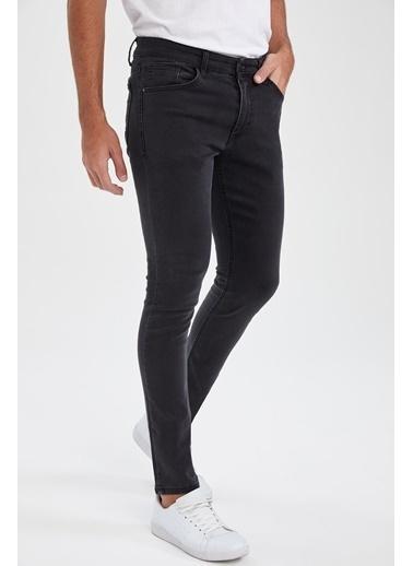 DeFacto Martin Super Skinny Düşük Bel Dar Paça Siyah Jean Pantolon Antrasit